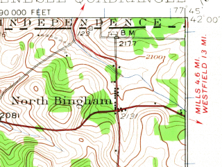 Reduced fragment of topographic map en--usgs--063k--054534--(1932)--N042-00_W078-00--N041-45_W077-45; towns and cities Ulysses
