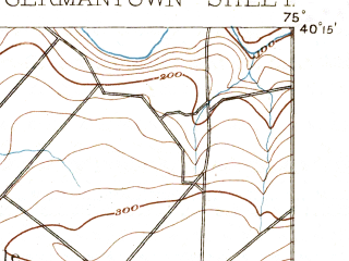 Reduced fragment of topographic map en--usgs--063k--054553--(1893)--N040-15_W075-15--N040-00_W075-00; towns and cities Willow Grove, Horsham, Maple Glen, Montgomeryville, Oreland