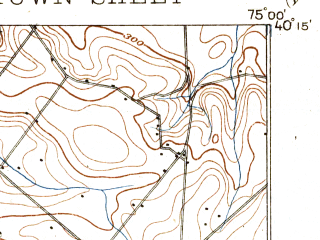 Reduced fragment of topographic map en--usgs--063k--054553--(1896)--N040-15_W075-15--N040-00_W075-00; towns and cities Willow Grove, Horsham, Oreland, Palmyra, Glenside