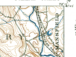 Reduced fragment of topographic map en--usgs--063k--054575--(1892)--N041-45_W072-30--N041-30_W072-15; towns and cities Colchester, East Hampton, Moodus