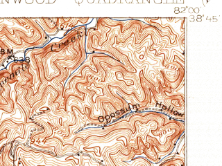 Reduced fragment of topographic map en--usgs--063k--054608--(1908)--N038-45_W082-15--N038-30_W082-00