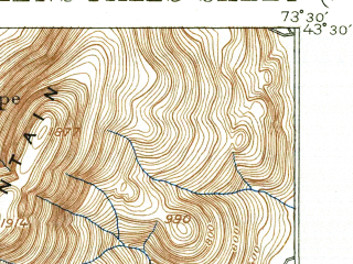 Reduced fragment of topographic map en--usgs--063k--054614--(1938)--N043-30_W073-45--N043-15_W073-30; towns and cities Glens Falls, Glens Falls North, Hudson Falls, West Glens Falls, Fort Edward