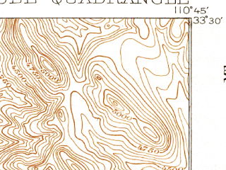 Reduced fragment of topographic map en--usgs--063k--054631--(1902)--N033-30_W111-00--N033-15_W110-45; towns and cities Globe, Central Heights-midland City, Claypool, Miami