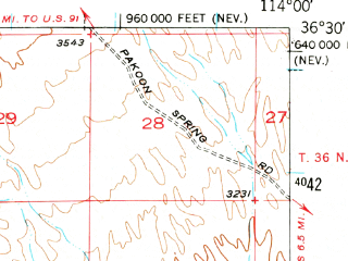 Reduced fragment of topographic map en--usgs--063k--054640--(1953)--N036-30_W114-15--N036-15_W114-00