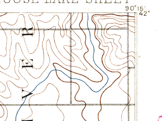 Reduced fragment of topographic map en--usgs--063k--054703--(1892)--N042-00_W090-30--N041-45_W090-15; towns and cities Low Moor, Andover, Camanche