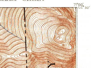 Reduced fragment of topographic map en--usgs--063k--054715--(1893)--N044-30_W071-15--N044-15_W071-00 in area of Reflection Pond; towns and cities Gorham