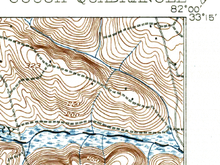 Reduced fragment of topographic map en--usgs--063k--054719--(1919)--N033-15_W082-15--N033-00_W082-00; towns and cities Waynesboro, Keysville, Vidette