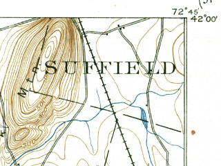 Download topographic map in area of West Hartford Simsbury Center