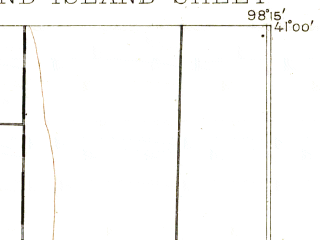 Reduced fragment of topographic map en--usgs--063k--054744--(1895)--N041-00_W098-30--N040-45_W098-15; towns and cities Grand Island, Doniphan, Alda