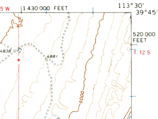 Reduced fragment of topographic map en--usgs--063k--054772--(1960)--N039-45_W113-45--N039-30_W113-30