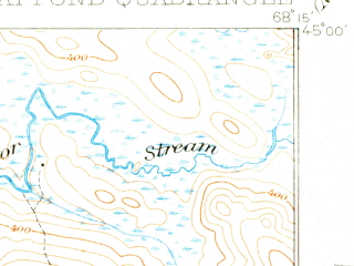 Reduced fragment of topographic map en--usgs--063k--054810--(1932)--N045-00_W068-30--N044-45_W068-15 in area of Great Pond