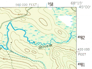 Reduced fragment of topographic map en--usgs--063k--054810--(1957)--N045-00_W068-30--N044-45_W068-15 in area of Great Pond