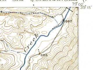 Reduced fragment of topographic map en--usgs--063k--054833--(1921)--N039-15_W079-15--N039-00_W079-00