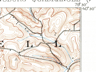 Reduced fragment of topographic map en--usgs--063k--054839--(1904)--N040-30_W079-45--N040-15_W079-30; towns and cities Jeannette, Murrysville, Greensburg, North Irwin, Penn