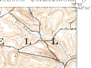 Reduced fragment of topographic map en--usgs--063k--054839--(1906)--N040-30_W079-45--N040-15_W079-30; towns and cities Murrysville, Greensburg, Jeannette, Export, Adamsburg