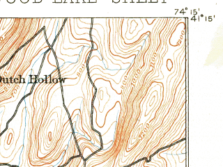Reduced fragment of topographic map en--usgs--063k--054860--(1893)--N041-15_W074-30--N041-00_W074-15 in area of Wanaque Reservoir, Lake Greenwood; towns and cities West Milford, Pompton Lakes, Ringwood, Wanaque, Bloomingdale