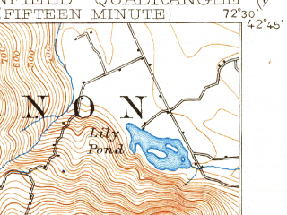 Reduced fragment of topographic map en--usgs--063k--054866--(1894)--N042-45_W072-45--N042-30_W072-30 in area of Deerfield; towns and cities Greenfield, Turners Falls, Shelburne Falls
