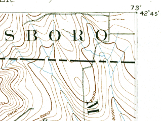 Reduced fragment of topographic map en--usgs--063k--054870--(1891)--N042-45_W073-15--N042-30_W073-00; towns and cities North Adams, Adams, Williamstown