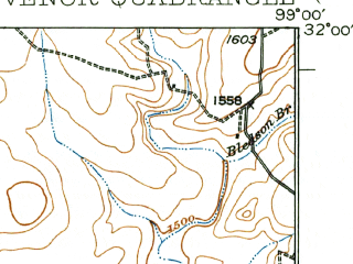Reduced fragment of topographic map en--usgs--063k--054886--(1927)--N032-00_W099-15--N031-45_W099-00 in area of Lake Brownwood; towns and cities Lake Brownwood