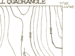 Reduced fragment of topographic map en--usgs--063k--054905--(1920)--N044-45_W071-45--N044-30_W071-30 in area of Maidstone Lake; towns and cities Groveton