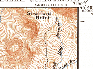 Reduced fragment of topographic map en--usgs--063k--054905--(1937)--N044-45_W071-45--N044-30_W071-30 in area of Maidstone Lake; towns and cities Groveton