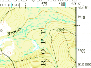 Reduced fragment of topographic map en--usgs--063k--054906--(1933)--N045-15_W069-30--N045-00_W069-15 in area of Lake Wassookeag, Manhanock Pond; towns and cities Dexter, Guilford