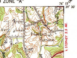 Reduced fragment of topographic map en--usgs--063k--054940--(1941)--N039-30_W076-30--N039-15_W076-15; towns and cities Dundalk, Perry Hall, Edgewood, Essex, Joppatowne