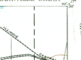 Reduced fragment of topographic map en--usgs--063k--054982--(1891)--N030-00_W090-30--N029-45_W090-15; towns and cities St. Rose, Destrehan, Hahnville, Lone Star, Luling
