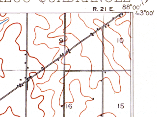 Reduced fragment of topographic map en--usgs--063k--054989--(1901)--N043-00_W088-15--N042-45_W088-00 in area of Muskego Lake, Buena Lake, Wind Lake; towns and cities Franklin, Greenfield, New Berlin, Greendale, Muskego