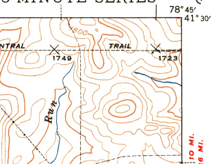 Reduced fragment of topographic map en--usgs--063k--055004--(1943)--N041-30_W079-00--N041-15_W078-45