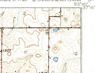 Reduced fragment of topographic map en--usgs--063k--055005--(1919)--N037-15_W093-45--N037-00_W093-30; towns and cities Billings, Halltown, Marionville