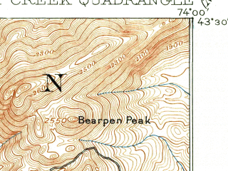 Reduced fragment of topographic map en--usgs--063k--055088--(1910)--N043-30_W074-15--N043-15_W074-00