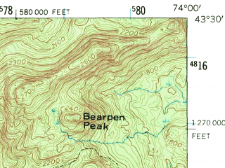 Reduced fragment of topographic map en--usgs--063k--055088--(1954)--N043-30_W074-15--N043-15_W074-00