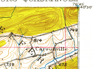Reduced fragment of topographic map en--usgs--063k--055090--(1924)--N040-30_W077-00--N040-15_W076-45; towns and cities Harrisburg, Colonial Park, Progress, Enola, Linglestown