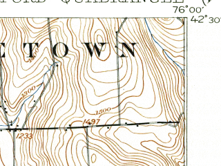Reduced fragment of topographic map en--usgs--063k--055120--(1903)--N042-30_W076-15--N042-15_W076-00; towns and cities Lisle, Marathon