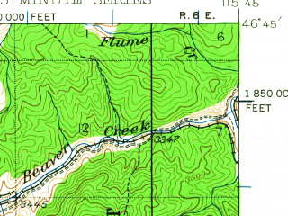 Reduced fragment of topographic map en--usgs--063k--055204--(1938)--N046-45_W116-00--N046-30_W115-45
