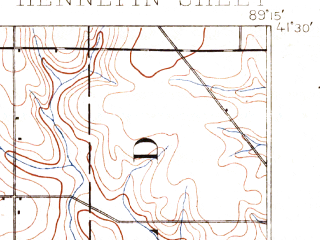 Reduced fragment of topographic map en--usgs--063k--055267--(1893)--N041-30_W089-30--N041-15_W089-15; towns and cities Princeton, Hollowayville, Malden, Seatonville