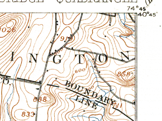 Reduced fragment of topographic map en--usgs--063k--055322--(1905)--N040-45_W075-00--N040-30_W074-45 in area of Round Valley Reservoir, Spruce Run Reservoir; towns and cities Annandale, Califon, Clinton