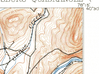 Reduced fragment of topographic map en--usgs--063k--055385--(1903)--N040-30_W078-30--N040-15_W078-15; towns and cities Hollidaysburg, Newry, Roaring Spring, Claysburg