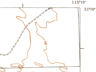 Reduced fragment of topographic map en--usgs--063k--055401--(1945)--N033-00_W115-30--N032-45_W115-15; towns and cities Holtville