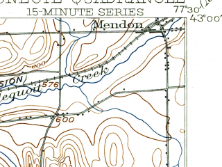 Reduced fragment of topographic map en--usgs--063k--055437--(1904)--N043-00_W077-45--N042-45_W077-30; towns and cities Livonia, Avon, Honeoye Falls