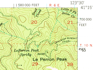 Reduced fragment of topographic map en--usgs--063k--055447--(1952)--N041-15_W123-45--N041-00_W123-30
