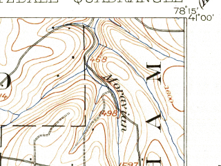 Reduced fragment of topographic map en--usgs--063k--055513--(1905)--N041-00_W078-30--N040-45_W078-15; towns and cities Brisbin, Glen Hope, Houtzdale