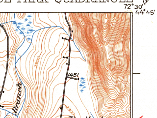 Reduced fragment of topographic map en--usgs--063k--055624--(1930)--N044-45_W072-45--N044-30_W072-30; towns and cities Hyde Park, Johnson, Morrisville
