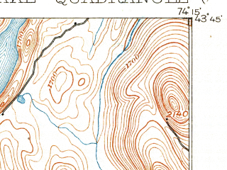 Reduced fragment of topographic map en--usgs--063k--055741--(1899)--N043-45_W074-30--N043-30_W074-15; towns and cities Speculator