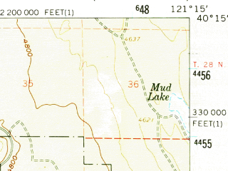 Reduced fragment of topographic map en--usgs--063k--055905--(1958)--N040-15_W121-30--N040-00_W121-15