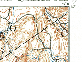 Reduced fragment of topographic map en--usgs--063k--055942--(1892)--N042-15_W074-15--N042-00_W074-00; towns and cities Hunter, Tannersville, West Hurley