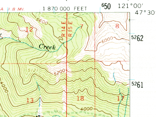 Reduced fragment of topographic map en--usgs--063k--055943--(1961)--N047-30_W121-15--N047-15_W121-00 in area of Kachess Lake