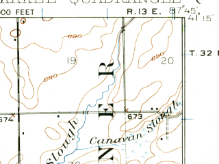 Reduced fragment of topographic map en--usgs--063k--055968--(1922)--N041-15_W088-00--N041-00_W087-45; towns and cities Kankakee, Bourbonnais, Bradley, Aroma Park, Chebanse
