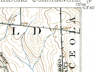 Reduced fragment of topographic map en--usgs--063k--056012--(1906)--N043-30_W076-00--N043-15_W075-45